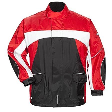LARGE Tourmaster Elite 3 Rain Jacket BLACK//BLACK//WHITE