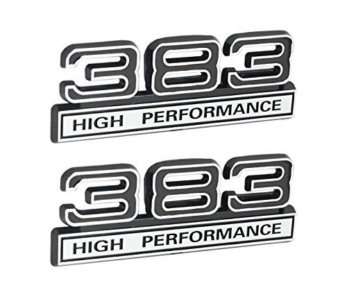 383 6.2L High Performance Engine Emblems in Chrome & Black - 4