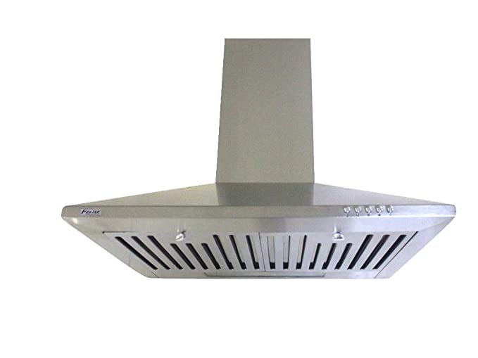 Felixe Kitchen Chimney Hood 60 Stainless Steel (Sapphire) Push Button 1100m3/hr