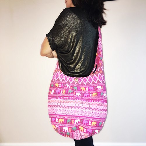 Hobo Costume Images (Vintage Thai Cotton Hippie Hobo Sling Crossbody Bag Messenger Purse Ethnic Elephant Parade (003))