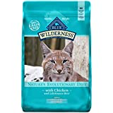 Blue Buffalo Wilderness High Protein Grain Free, Natural Adult Indoor Control Hairball Dry Cat Food, Chicken 11-Lb