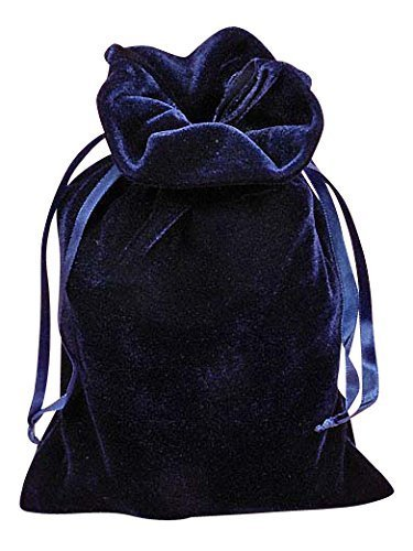 Navy Blue Velvet 6 X 9 Tarot Bag by Paper Mart