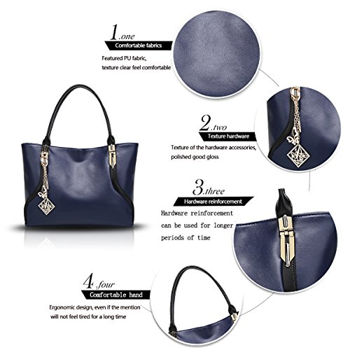 di signora di del donne Blu sacchetto donne del modo sacchetto spalla di tendenza sacchetto spalla raccoglitore molle della spalla Sdinaz Il delle borsa di della di nuovo del pna6OUWX
