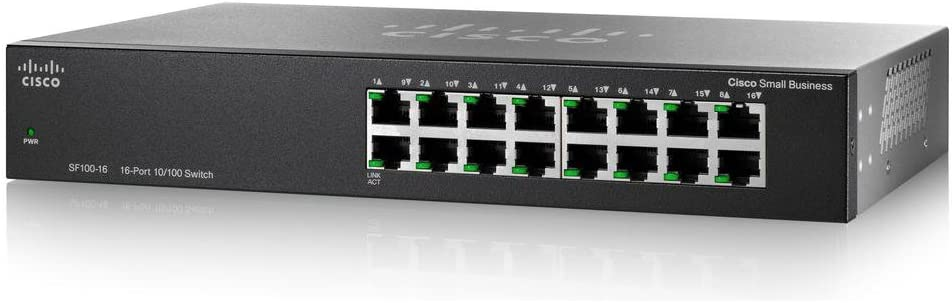 CISCO SYSTEMS SF100-16-NA 16 Port 10//100 Desktop Switch