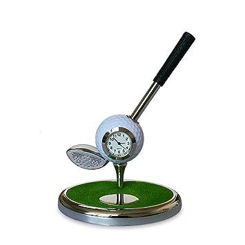 YAOSHIBIAN- Mini Golf Escritorio Reloj Aleación de Zinc Pelota de ...