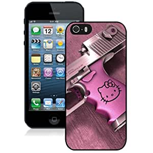 NEW DIY Unique Designed iPhone 5s Generation Phone Case For Hello Kitty Desert Eagle Gun Phone Case Cover
