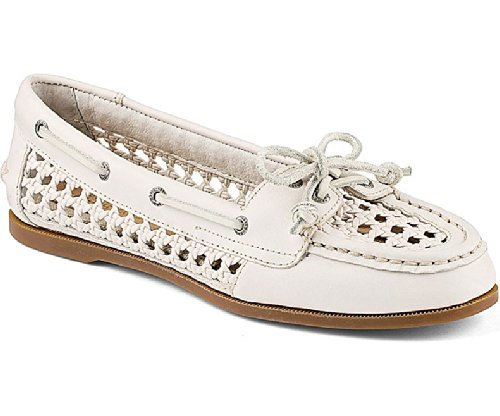 Sperry Top-Sider Women's Audrey Caning Boat Shoe,White,9.5 M US