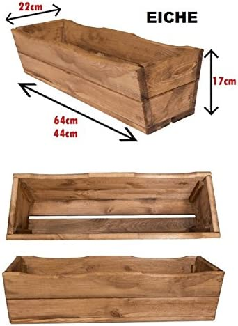 44 cm NEU Pflanzkasten aus Holz TOP Pflanzk/übel Garten Terrasse fertig montiert D8 Eiche