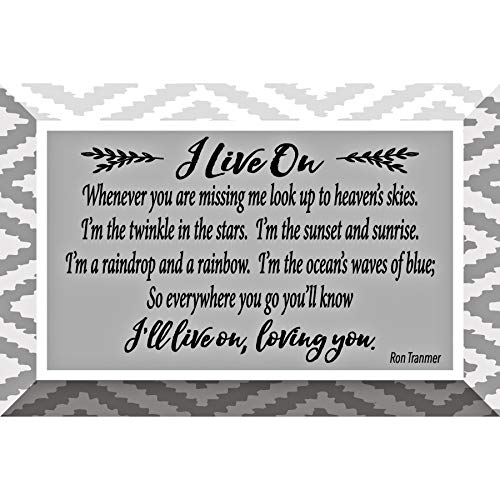 - I Live On Glass Plaque with Inspiring Quotes 4