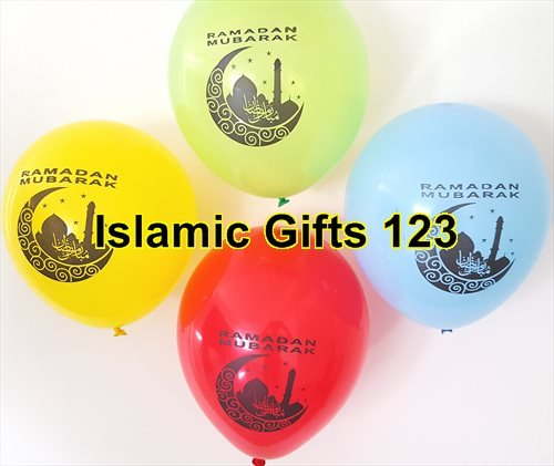 Ramadan MUBARAK Decoration MOON mix Balloons-Wholesale lots-Super DEAL Ramadan Muslim Islamic holiday.-FAST DELIVERY from NY-US Seller-Islamic Gifts 123 Quran (20) from Islamic Gifts 123----USA------
