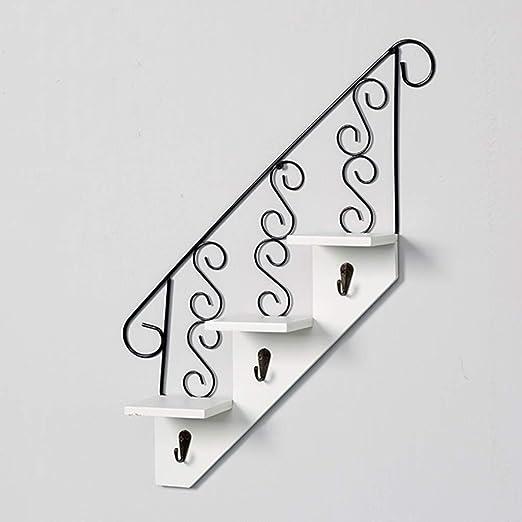 Ganchos para colgadores Perchero de pared con estante ...