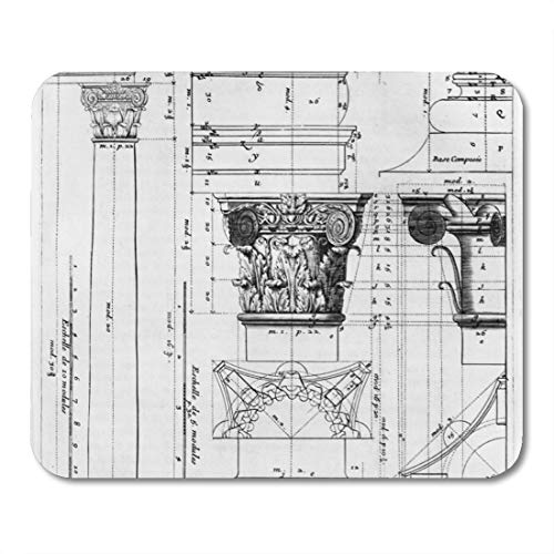 - Aikul Mouse Pads Jacques Section and Elevation of Composite Francois Mouse Mat 9.5