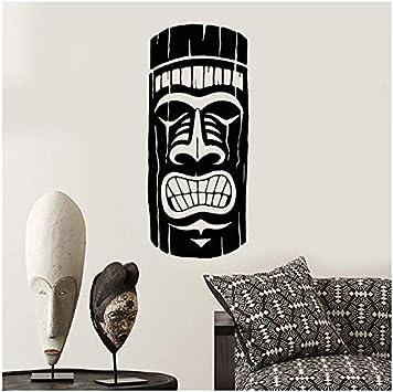 aobobaihuo Antigua Máscara Maya Africana Estilo Étnico Vinilo Pared Calcomanía Decoración del Hogar DIY Arte Mural Papel Pintado 58 * 35 Cm