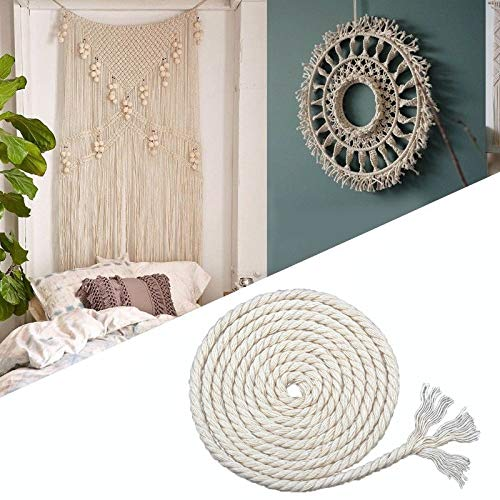 FINCOS Durable 6mmx140m Natural Beige White Macrame Cotton Twisted Cord Rope DIY Home Textile Accessories Craft &c - (Color: Beige) by FINCOS (Image #2)