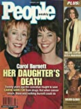 Carol Burnett and daughter Carrie Hamilton, Halle Berry/59th Annual Golden Globe Awards, Chelsea Clinton - February 4, 2002 People Weekly Magazine