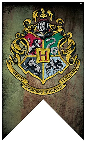 Harry Potter- Hogwarts Crest Banner Fabric Poster 30 x 50in