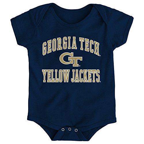 NCAA Georgia Tech Newborn & Infant Primary Logo Bodysuit, 18 Months, Dark Navy