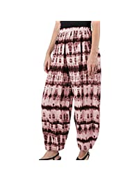 VEZAD Store Women Wide Leg Pants Tie-Dyed Gradient Printing Loose Linen Trousers