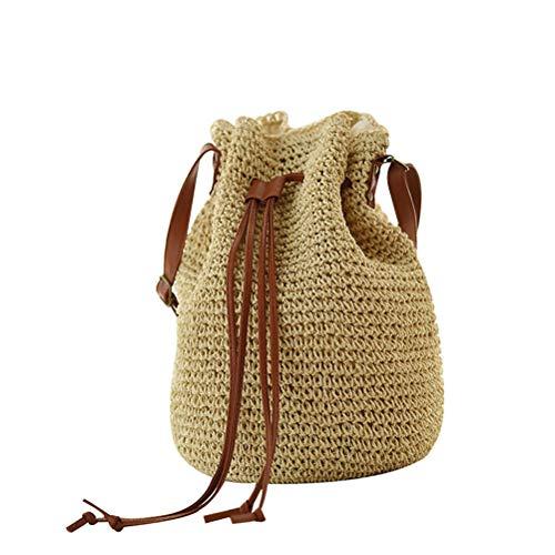 Crossbody Shoulder Bag Drawstring Bucket Summer Beach Bag A ()
