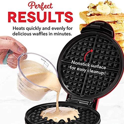WM Mini Waffeleisen Elektrische runde Backform ist geeignet für unabhängige Waffeln/Sammin usw Frühstück/Mittagessen Snack