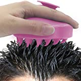 DinoMore Hair Scalp Massager Shampoo Brush, Scalp Care Brush (pink)