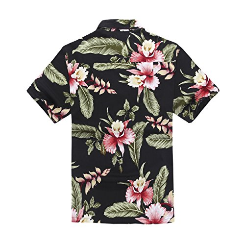 Hawaiiana Camicia Uomo Hawaii Hangover's Nero Aloha 0qC46zwEx
