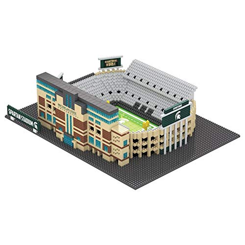 FOCO NCAA Michigan State Spartans 3D Brxlz Stadium Building Block Set3D Brxlz Stadium Building Block Set, Team Color, One Size