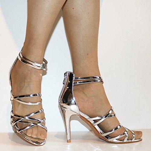 Le Haut Nouvelles Partie Sandales Sur Mi Dames Chaussures 06 Taille zqqYfxwPS6