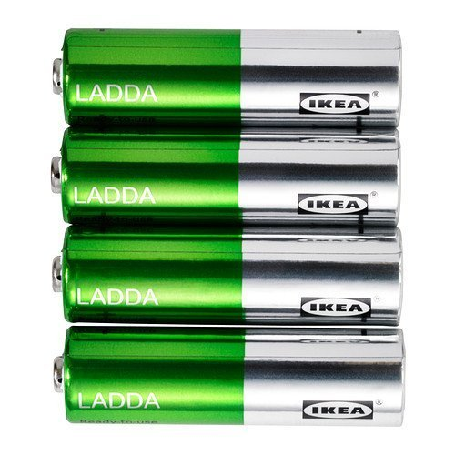 Ikeas Ladda Rechargeable Battery-(4 Pack)