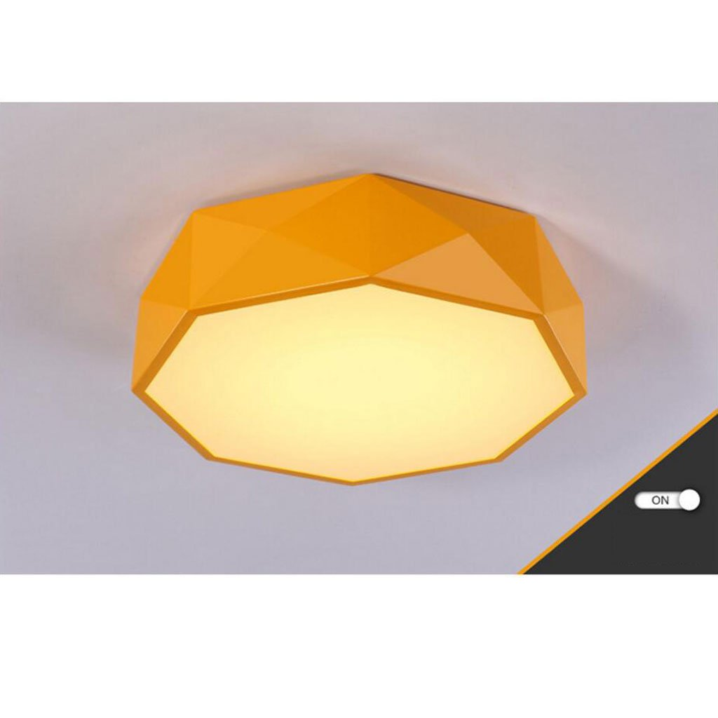天井の明るい色の幾何学の子供の性格マルチラインのリビングルームモダンシンプルな寝室の研究 ( Color : Yellow , Size : A ) B07C9CT898  Yellow A