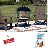 Patio Heater Fireplace Outdoor Steel Fire Pit Backyard Outside Wood Burning Portable & eBook by AllTim3Shopping