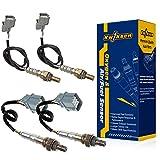 Kwiksen 4Pcs Air Fuel Ratio Oxygen Sensor 1 Sensor 2 Bank 1 Bank 2 Upstream Downstream Pre-Cat Post-Cat Replacement For 2003-2007 Honda Accord EX LX 3.0L V6 Auto Trans