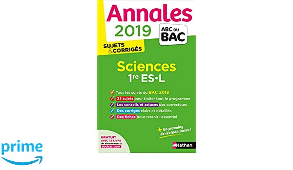 Sciences 1re ES-L : Sujets & corrigés Annales ABC du Bac: Amazon.es: Françoise Saintpierre, Nicolas Coppens: Libros en idiomas extranjeros