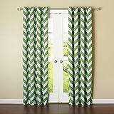 Cheap Best Home Fashion Room Darkening Chevron Print Curtains – Antique Bronze Grommet Top – Green- 52″ W X 84″ L – (1 Panel)