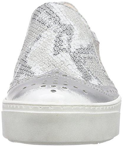 Mjus 785112, Women's Low-Top Sneakers Multicolour - Mehrfarbig (Argento/Bianco)