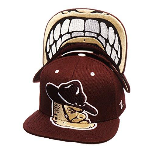 ZHATS Texas A&M Aggies Maroon Menace Adjustable Snapback Cap - NCAA Flat Bill, Men's One Size Baseball Hat (And Cap Bill Texas M A Flat)