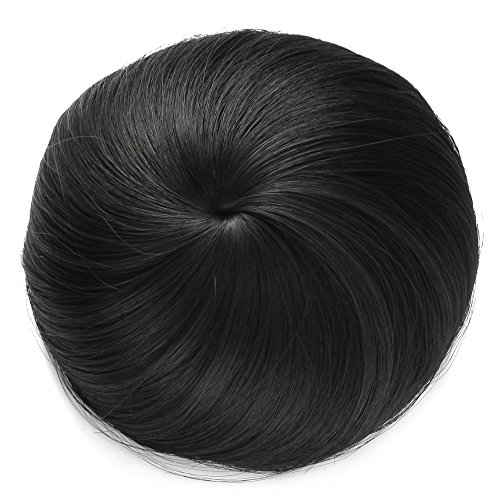 Onedor Synthetic Fiber Hair Extension Chignon Donut Bun Wig Hairpiece (1B - Off Black) from Onedor