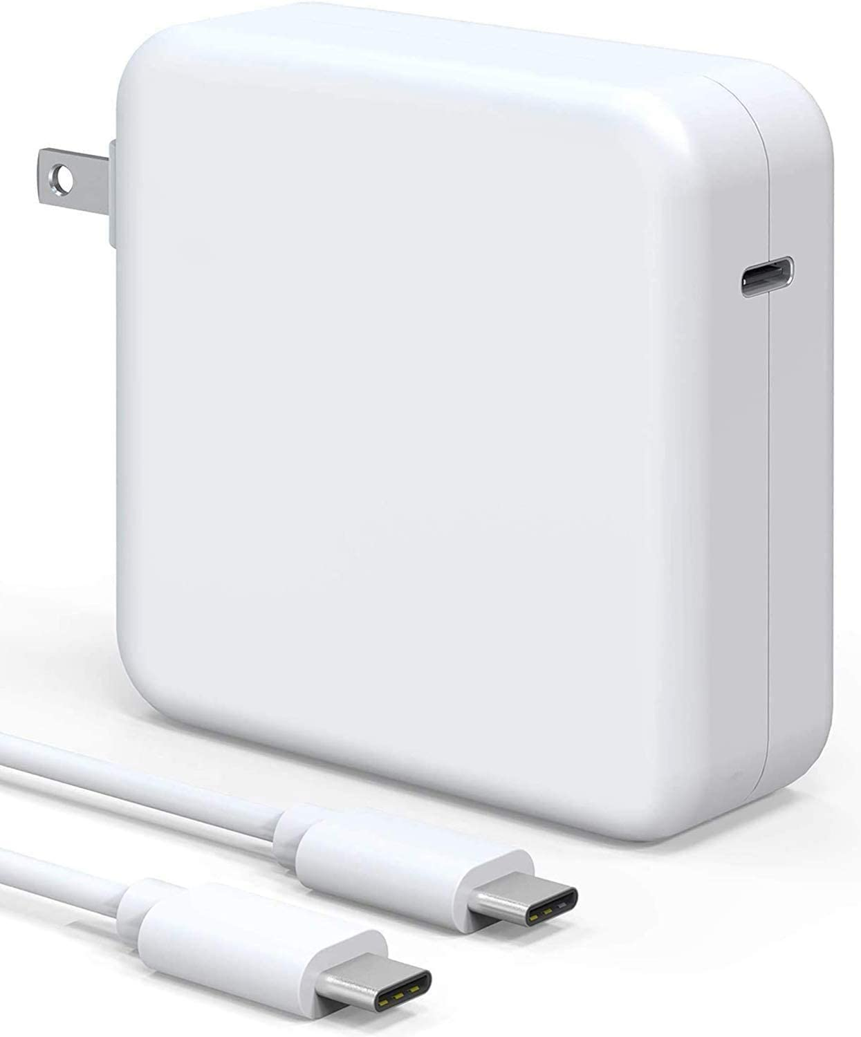 96W USB C Charger Power Adapter for Mac Pro 16, 15, 13 inch,New Mac Air 13 inch 2020/2019/2018 Foldable Plug Type C Interface