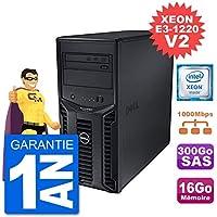 Dell Serveur PowerEdge T110 II Xeon QuadCore E3-1220 V2 16Go 300Go Perc H200 SAS (Reconditionné)