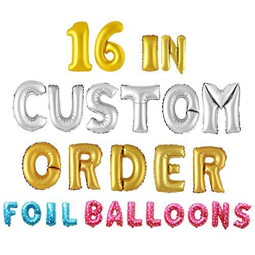 Letter Balloons - Any Custom Phrase 16