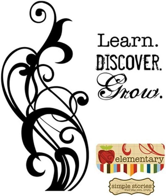 Learn. Discovery. Grow. Sello Itty Bitty {Cling Foam} (Unidad): Amazon.es: Hogar
