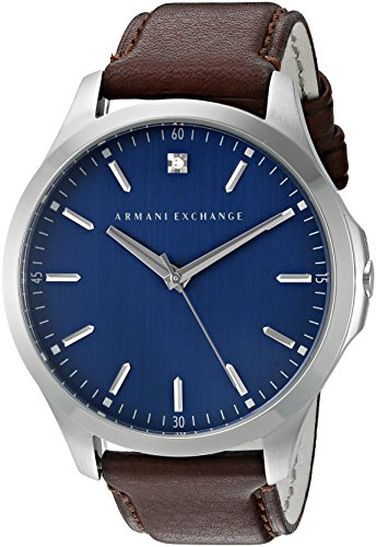 Armani-Exchange-Mens-AX2181-Brown-leather-Watch
