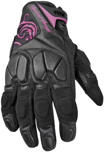 2014 Speed And Strength Cat Out'a Hell Women's Leather-Textile Gloves - Black/Pink - X-Large