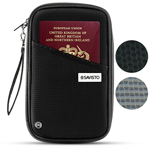 Savisto Multi-Purpose Travel Wallet Organiser | RFID Blocking Passport &...