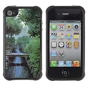 "Hypernova Defender Series TPU protection Cas Case Coque pour Apple iPhone 4 / iPhone 4S [Naturaleza mañana brumosa""]"