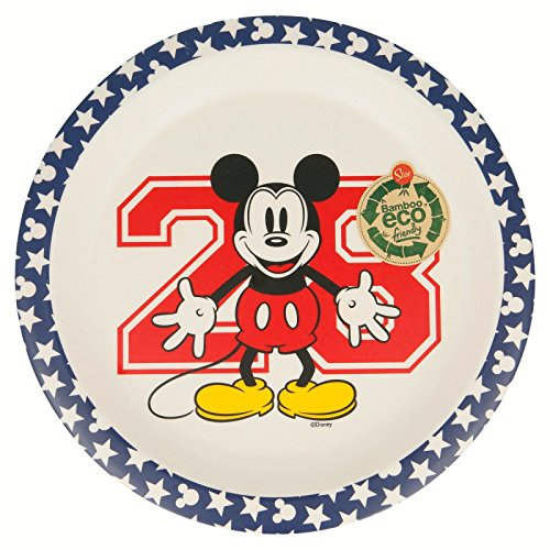 Elemed 1321 Disney Assiette en Bambou Ecologique Mickey Mouse