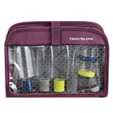 Travelon Wet/Dry Quart Bag with Bottles, Wineberry