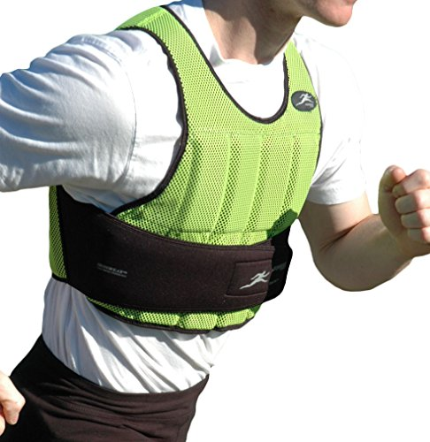 Power Systems Weighted Speed Vest, Comfortable and Thin with Removable Soft Weights for Youths or Adults, Holds Up to 10 Pounds, Neon Green (12055)