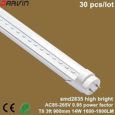 SMD2835 Led Tube G13 base T8 3ft Split Led Lamp 900mm 14W 1600-1800 Lumen Factory Price (Clear Cover, Cool White 6000-6500K)