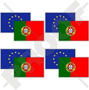 Par de bandera de union-portugal Europea, eu-pt europe-portuguese 2